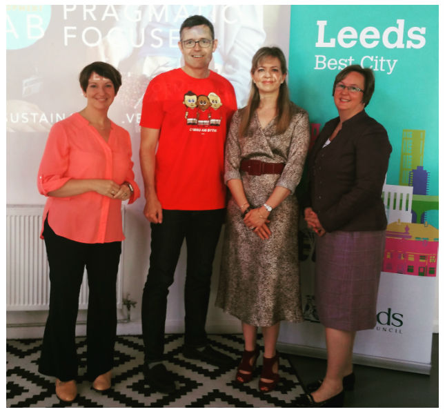 At the launch of LeedsBins with support from Leeds City Council
